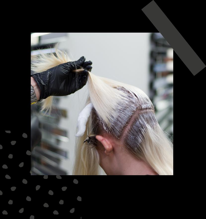 Hairdresser Applying Bleach