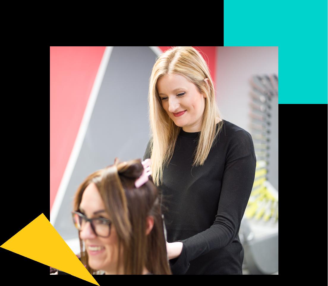 Hairdresser Styling Hair